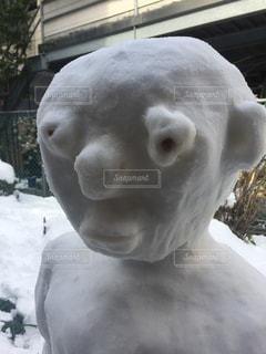 雪だるまならぬ雪男の写真・画像素材[1022907]