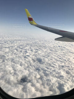 雪に覆われた飛行機の写真・画像素材[1023387]