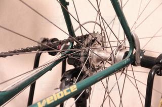 ロードバイクの後輪の写真・画像素材[1023463]
