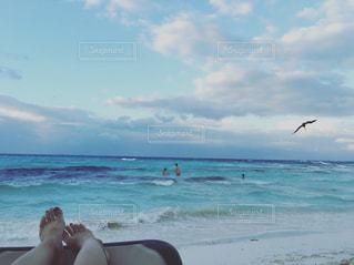 カンクンビーチの写真・画像素材[1023919]