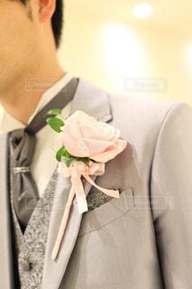 スーツとネクタイを身に着けている男の写真・画像素材[1159603]
