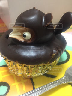 たぬきのケーキの横顔の写真・画像素材[1024910]