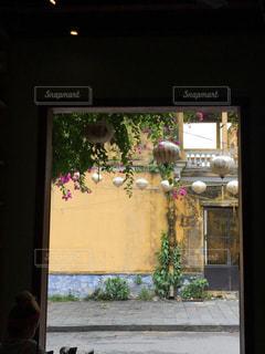 窓からのホイアン旧市街地の写真・画像素材[1025628]