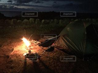 海辺のキャンプの写真・画像素材[1034501]