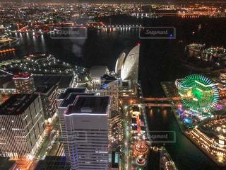 横浜の夜景の写真・画像素材[1037224]