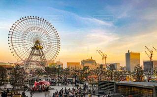 横浜の夕暮れの写真・画像素材[1039511]