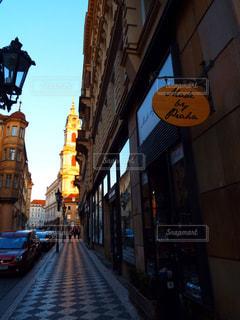 街の通りのビューの写真・画像素材[1026920]