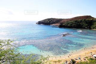 丘から見下ろすラニカイビーチの写真・画像素材[1028378]