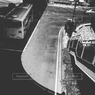 電車の黒と白の写真の写真・画像素材[1152197]