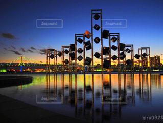晴海ふ頭からの景色 夕焼け編の写真・画像素材[1695339]