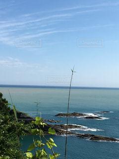 水の体の真ん中に島の写真・画像素材[1030075]