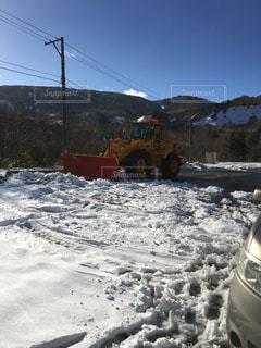 雪に覆われた鉄道の写真・画像素材[1030101]