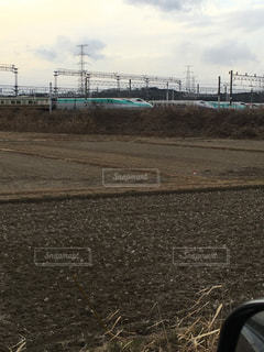 並ぶ新幹線の写真・画像素材[1030432]