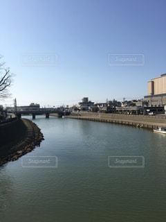 晴れの日の最上川の写真・画像素材[1098740]