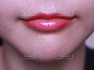 化粧後の女性(唇)の写真・画像素材[1210894]