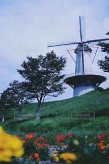 風車のある風景の写真・画像素材[1030455]