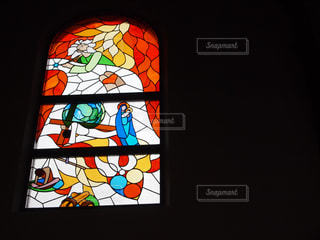 教会のステンドグラスの写真・画像素材[1032650]