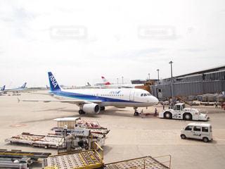 出発前の飛行機の写真・画像素材[1032817]