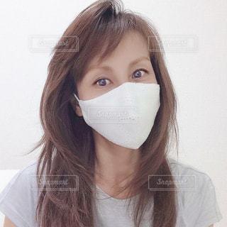 マスクをした女性の写真・画像素材[3296943]