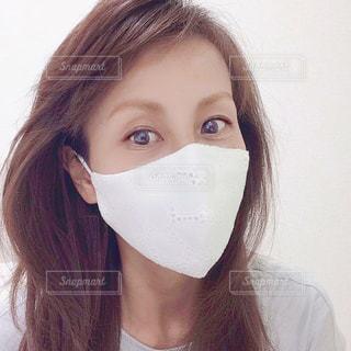 マスクをした女性の写真・画像素材[3296953]