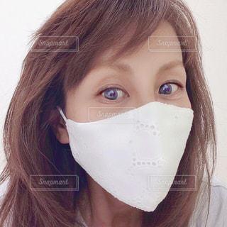 マスクをした女性の写真・画像素材[3296957]