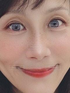 青い目をした人のクローズアップの写真・画像素材[3364809]