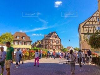 ヨーロッパの街並みの写真・画像素材[3369667]