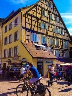 ヨーロッパの街並みの写真・画像素材[3369670]