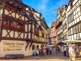 ヨーロッパの街並みの写真・画像素材[3369687]
