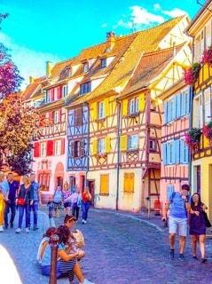 ヨーロッパの街並みの写真・画像素材[3369689]