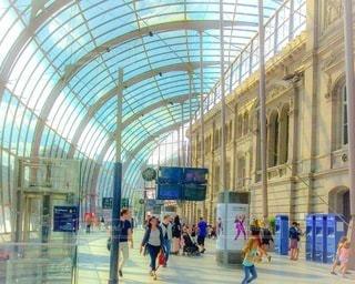 ヨーロッパの駅の写真・画像素材[3369690]