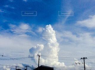 空の雲のクローズアップの写真・画像素材[3673994]
