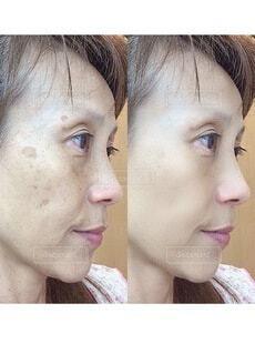 横顔の女性のクローズアップの写真・画像素材[3674000]