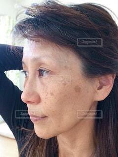 女性のクローズアップの写真・画像素材[4059765]