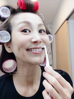 歯磨きする女性の写真・画像素材[4289219]