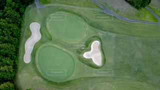 ゴルフ場のグリーンの写真・画像素材[1033428]