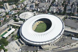 マラカナ スタジアムでの大規模なスタジアムの写真・画像素材[1037679]
