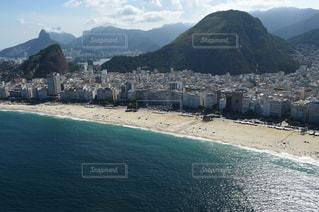 コパカバーナビーチの空撮写真の写真・画像素材[1037681]