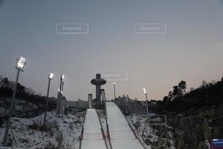 ジャンプ台の写真・画像素材[1037688]