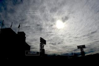 競技場のシルエットの写真・画像素材[1042742]