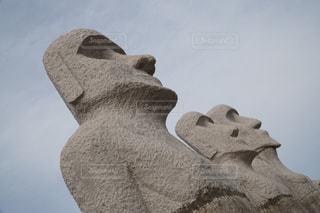 モアイ像の写真・画像素材[1042916]