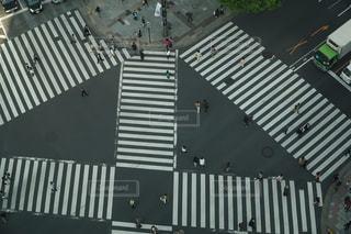 スクランブル交差点の写真・画像素材[1042929]