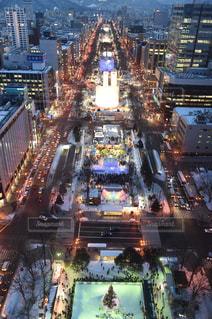 大通り公園の夜景の写真・画像素材[1044878]