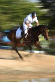 馬に乗る男の写真・画像素材[1044938]