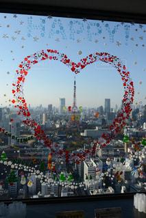ハートと東京タワーの写真・画像素材[1045094]
