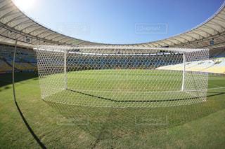 緑の芝生と大きなスタジアムの写真・画像素材[1045129]
