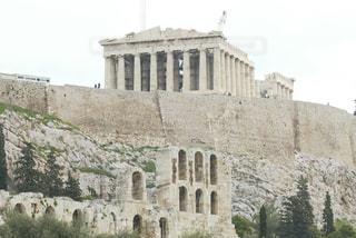 大規模な石造りの建物の写真・画像素材[1046723]