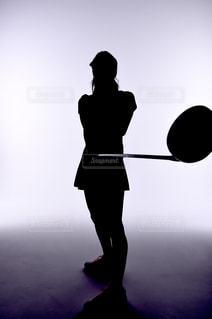 ゴルフのシルエットの写真・画像素材[1049133]
