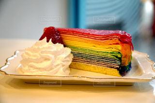 テーブルにケーキのアップの写真・画像素材[1062125]