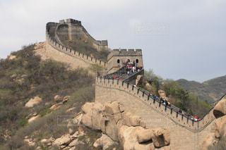 山の上に城の写真・画像素材[1169379]
